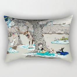 Books Coming to Life: Frozen Rectangular Pillow