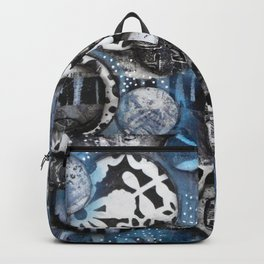 The Mick J - Black and White Circles Backpack