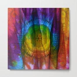 Tie Dye Daisies Metal Print