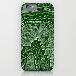 Forest Green Geode iPhone Case