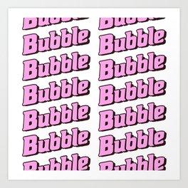 Bubble Bubble Leggings - Pink Art Print