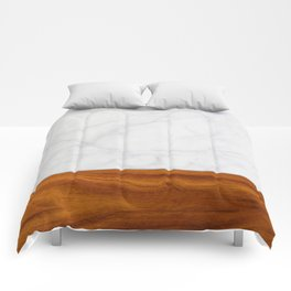 Marble and Wood 2 Comforters