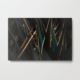 Golden Hour Cactus Metal Print