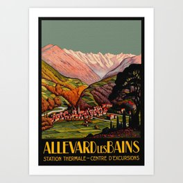 Allevard France - Vintage Travel Poster Art Print