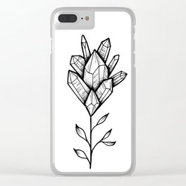 Crystal Flower Clear iPhone Case