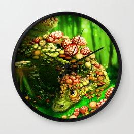 Mushroom dragon Wall Clock