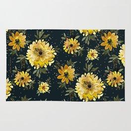 Sunflower Sparkle - black Rug