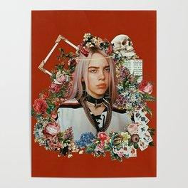 Billie Eilish Graphic Artwork Poster