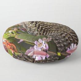 Banksia and Protea blooms Floor Pillow