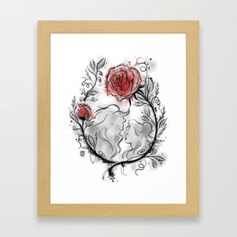 Ultil the last petal falls Framed Art Print