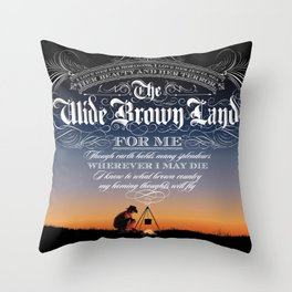 Wide Brown Land #A07 Throw Pillow