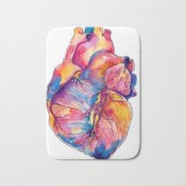 Heart Is On Fire Bath Mat