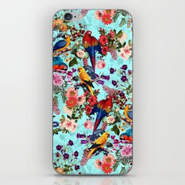 Floral and Birds XI iPhone Skin