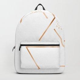 Mandala Gold Geometric Eye Backpack