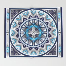 Sacred Places Blue Throw Blanket