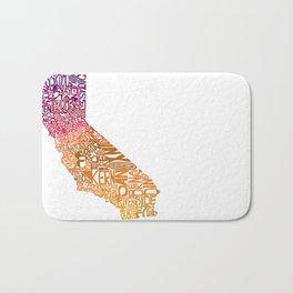 Typographic California - Autumn Bath Mat