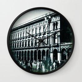 Vintage Textured Galleria Vittorio Emanuele II Wall Clock