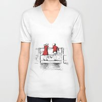 friendship V-neck T-shirts featuring Friendship by Ginta Spate