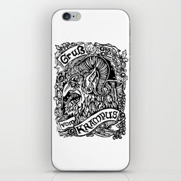 Gruss Vom Krampus iPhone Skin