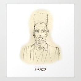 Abe 'N Play Art Print