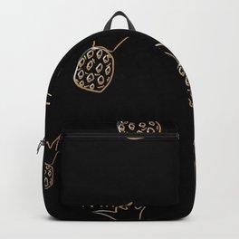 Seamless golden pineapple pattern  Backpack