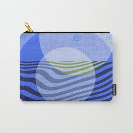 Waves and Blue Circles Carry-All Pouch