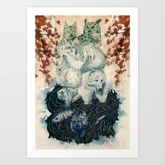 The Forest Folk Art Print