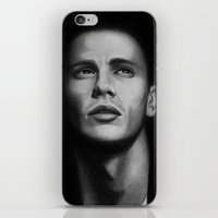 james franco iPhone & iPod Skins featuring James Franco by Emma Porter