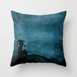 Watching the Stars Throw Pillow