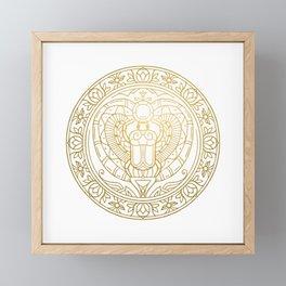 Scarabeus Mandala – Egypt Framed Mini Art Print
