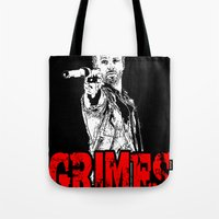 rick grimes Tote Bags featuring Walking Dead - Rick GRIMES  by High Design