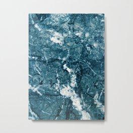 Teal Blue Marble Glam #1 #decor #art #society6 Metal Print