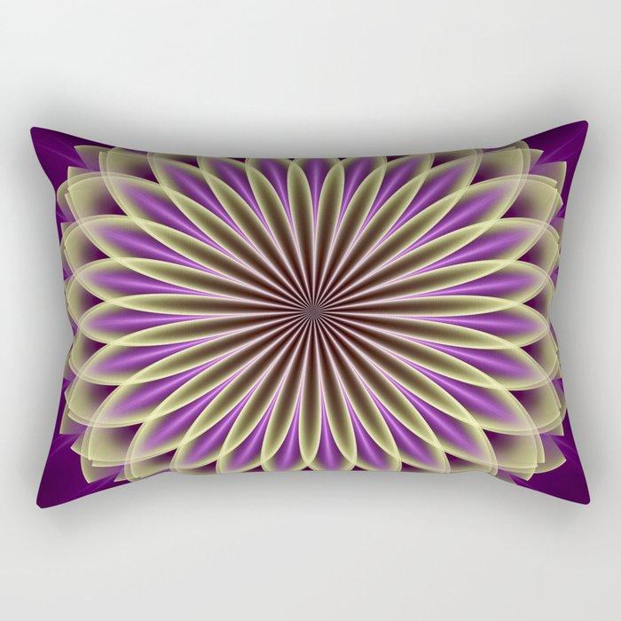 Magical geometric fantasy flower Rectangular Pillow