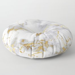 Italian gold marble Floor Pillow