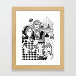 Amish People  Framed Art Print