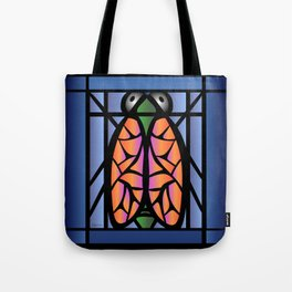 Stained Glass Cicada Tote Bag