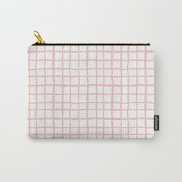 Pantone rose quartz grid pattern print minimal lines cross swiss cross painting hand drawn pastel Carry-All Pouch
