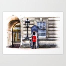 Buckingham Palace Queens Guard Art Art Print