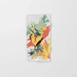 Intuitive Conversations, Abstract Mid Century Colors Hand & Bath Towel