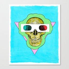 Three Dee Skull Canvas Print