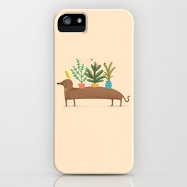 Dachshund & Parrot iPhone Case