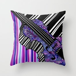 Study in the key of Purple - cello Throw Pillow