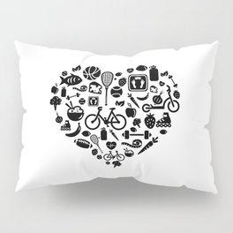 I Love Health | Nutrition Sports Life Heart Pillow Sham
