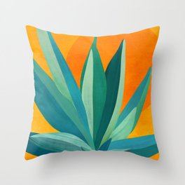 West Coast Sunset With Agave Throw Pillow