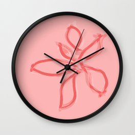 Fluffy lines twisting and turning no. 7 Wall Clock