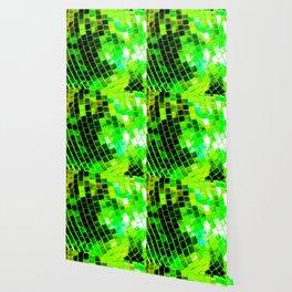 Funky Green Disco Ball Wallpaper