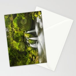 Stone bridge and waterfall in Luxembourg Stationery Cards