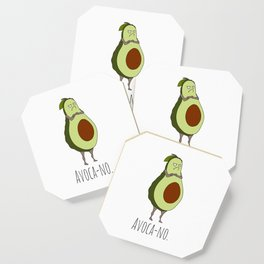 Avoca-no: Grumpy Avocado Coaster