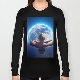 Pool Moon by GEN Z Long Sleeve T-shirt