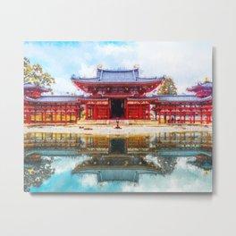 Byodoin Temple - Kyoto, Japan Digitla Oil Painting Metal Print